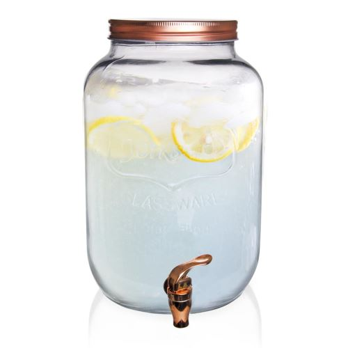 Láhev sklo + kohoutek 8,8 l