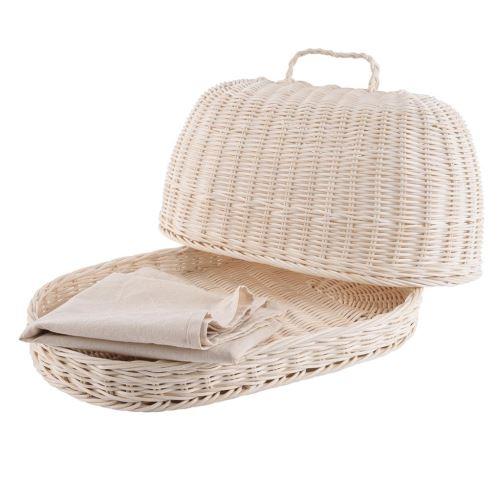 Chlebovka ratanový ovál + utěrka
