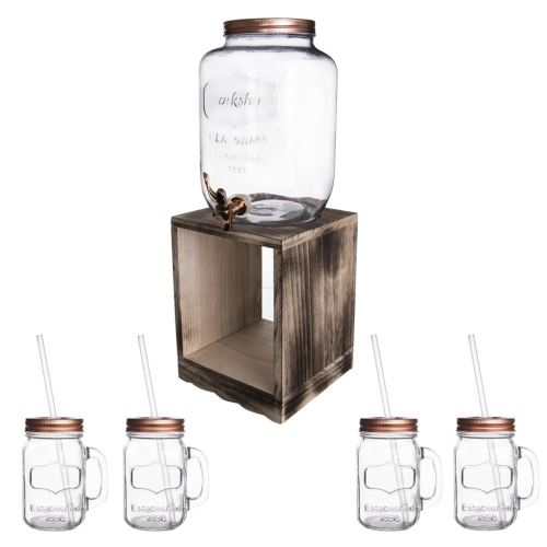 Láhev sklo 8,8 l + kohoutek + stator 4 + 1