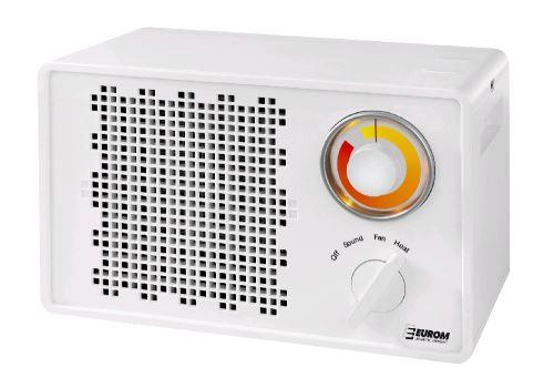Teplovzdušný ventilátor EUROM Heat-BOOST 1500 s reproduktorem