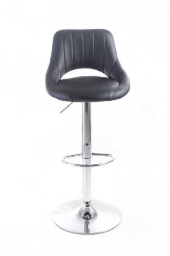 Barová židle G21 Aletra koženková, prošívaná černá