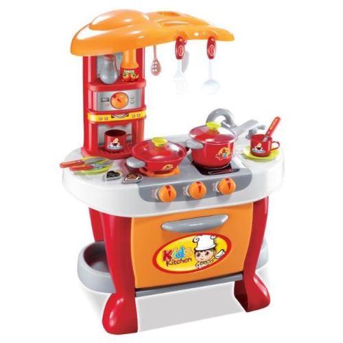 Dětská kuchyňka G21 s příslušenstvím oranžová 690956