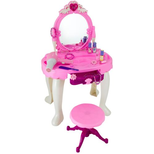 G21 Kosmetický stolek BEAUTIFUL s fénem 690401 růžový