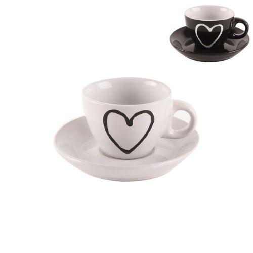 Orion hrnek s podšálkem HEART 0,09 L keramika 126992