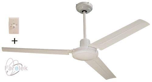 Bílý stropní ventilátor Farelek Seychelles