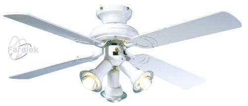 Bílý stropní ventilátor Farelek Maldives