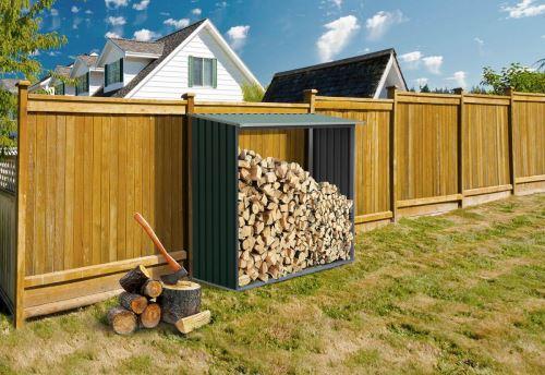 Přístřešek na dřevo G21 WOH 136 182 x 75 cm zelený 63900491