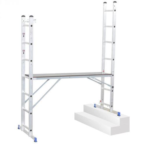 Multifunkční hliníkové lešení G21 Handrail 1,96 x 1,59 m 6390390