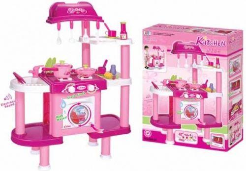 Dětská kuchyňka G21 LENA s příslušenstvím růžová II. 690679