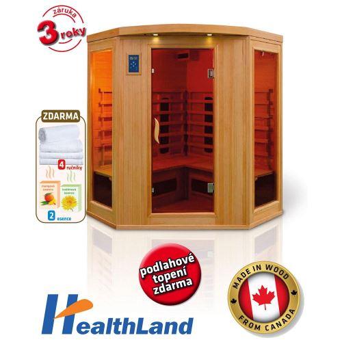Domácí rohová Infrasauna HealthLand DeLuxe 4440 CB/CR