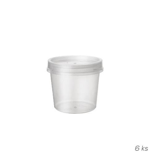 Dóza UH + víčko 0,05 l, 6 ks